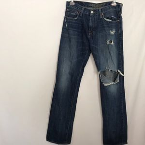 American Eagle Original Straight Distressed Jeans